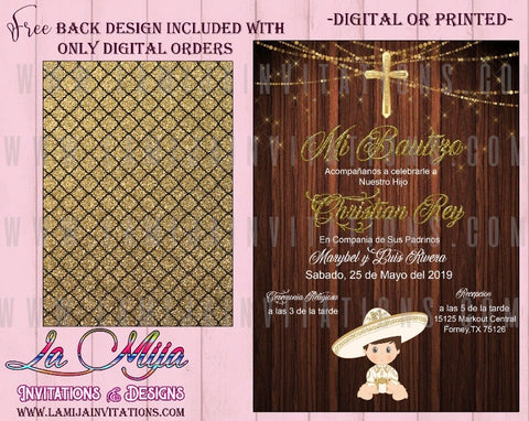 Charro Party, Customized Item, Charro Baptism, Charro Party Ideas, Charro Invitations, Charro Baptism Invitations, Charro Bautizo Invitations - Addi Creations