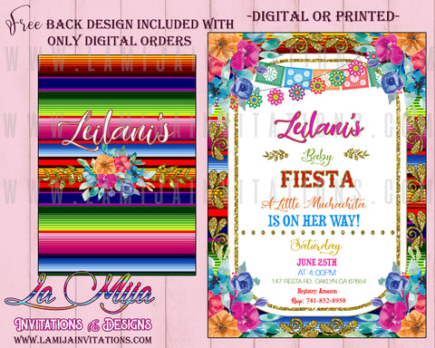Baby Fiesta Shower Invitations, Customized Item, Mexican Baby Shower Invitations - Addi Creations