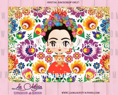 Frida Kahlo Backdrop, Customized Item, Frida Kahlo Birthday Backdrop, Frida Kahlo Party,Invitations - Addi Creations