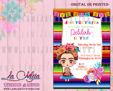 Frida Invitations, Customized Item, Frida Kahlo Invitations, Invitaciones Frida, Frida Kahlo Birthday Invitations, Frida Kahlo Baby Shower