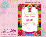 Virgencita Invitations, Virgen de Guadalupe Invitations, Religious Invitations, Baptism Invitations