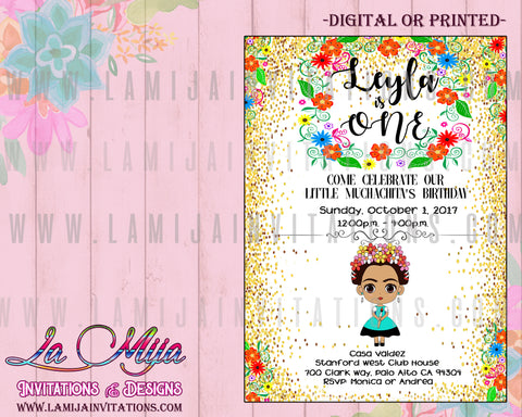 Frida Kahlo Invitations, Customized Item, Frida Invitations, Frida Invitaciones, Frida Birthday