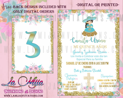 Charra Quinceanera, Customized Item, Charra Red Gold Quinceanera, Charra Quince Anos Inivtations, Charra Invitations, Charra Decorations, Charra Quince Anos Ideas, Charra Red Gold Invitations