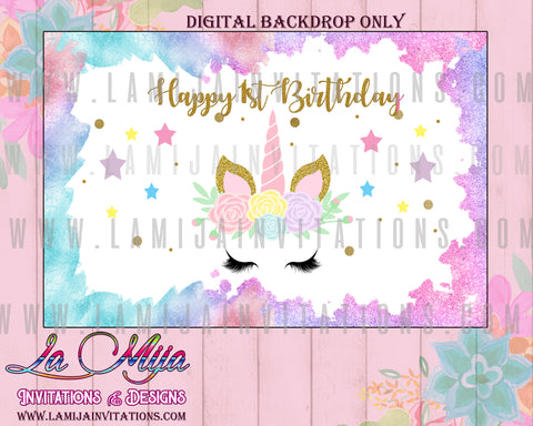 Unicorn Birthday Backdrop, Customized Item, Unicorn First Birthday Ideas, Unicorn Party Theme, Unicorn Party Backdrop, Unicorn Digital Backdrop, Unicorn Backdrop, Unicorn Birthday, Baby Shower