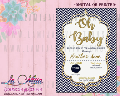 Oh baby Invitations, Oh Baby Shower Invitations, Oh Baby Shower Theme, Oh Baby Baby Shower