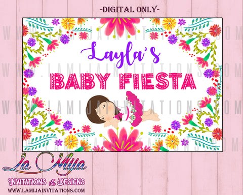 Baby Fiesta Backdrops, Customized Item, Baby Fiesta Theme, Baby Fiesta Baby Shower, Digital Baby Fiesta, Baby Fiesta Printables, Mexican Baby Shower, Fiesta Baby Shower Backdrops - Addi Creations