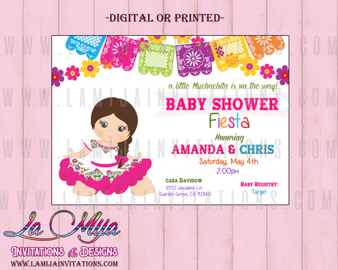 Fiesta Baby Shower, Customized Item, Mexican Baby Shower Invitations, Fiesta Baby Shower Theme, Charra Baby Shower Invitations, Invitaciones Baby Shower Mexicano, Charra, Muchachita - Addi Creations