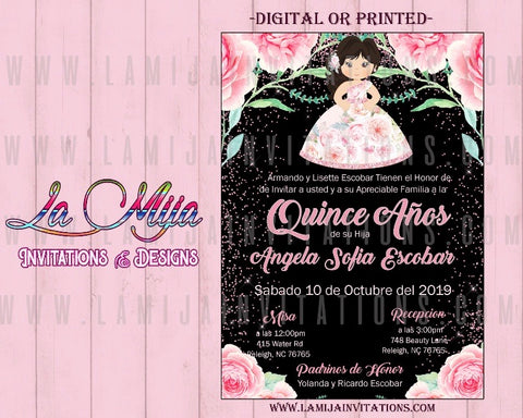 Quinceanera Invitations, Customized Item, Invitaciones Quince Anos, Charra Theme Quinceanera Invites - Addi Creations