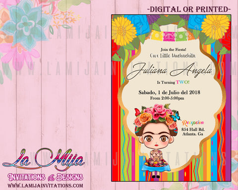 FrridaKahlo Invitations, Frida Invitations, Invitaciones Frida Kahlo, Fiesta Frida Kahlo, Frida Kahlo Party Theme, Frida Kahlo Theme - Addi Creations