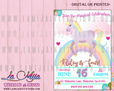 Unicorn Invitations, Customized Item, Unicorn Birthday Invitations, Unicorn First Birthday Ideas, Unicorn First Birthday Invitations, Unicorn Baby Shower, Fiesta Unicornio, Invitaciones Unicornio