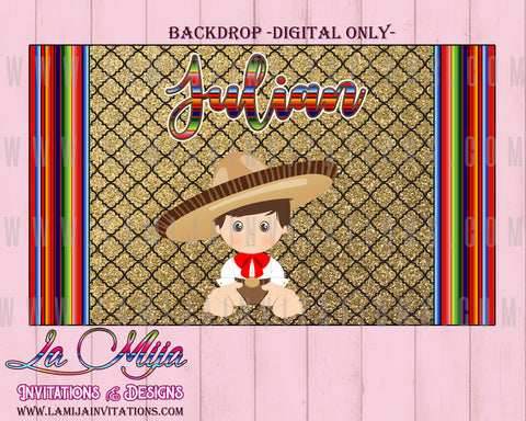 Charro Backdrop Charro Digital Backdrop, Customized Item,  Charro Theme Birthday, Charro Birthday backdrop, Charro Fiesta, Charro Baby Shower, Charro Baptism - Addi Creations