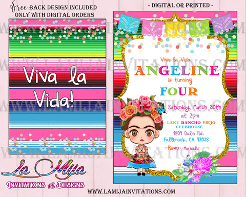 Frida Invitations, Customized Items, Frida Kahlo Invitations, Invitaciones Frida