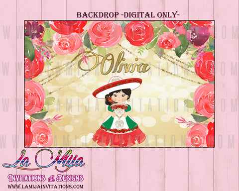Charra Backdrop, Customized Item,  Digital Charra Backdrop, Charra Theme Party, Fiesta Charra, Tres Anos Charra - Addi Creations