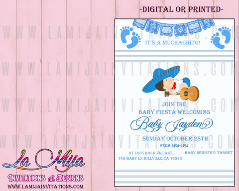 Baby Fiesta Invitations, Customized Item, Mexican Baby Shower Invitations - Addi Creations