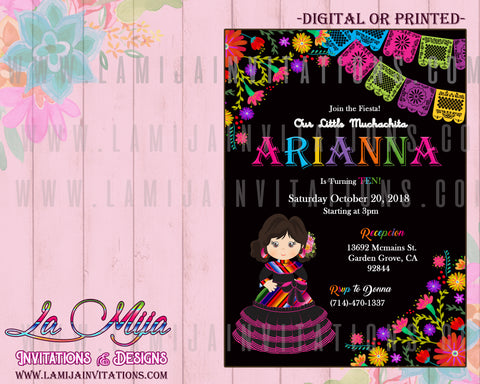 Birthday Fiesta Invitations, First Birthday Mexican Theme Invitations, Customized Item, Mexican Fiesta Birthday, Invitaciones Charra Cumpleanos