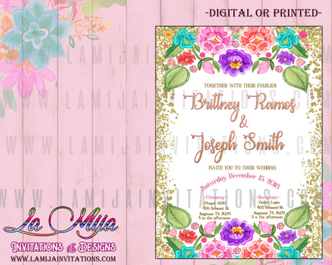 Wedding Invitations, Mexican Theme Wedding Invitations, Mexican Wedding Invitations, Fiesta Wedding Invitations, Invitaciones de Boda, Boda Mexicana