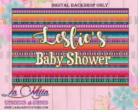 Baby Fiesta Backdrop, Customized Item,  Baby Fiesta Theme, Baby Fiesta Shower Theme, Mexican Baby Shower, Fiesta Baby Shower, Digital Ba