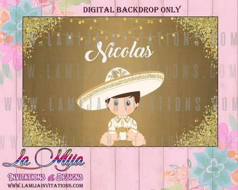 Charro DIGITAL Backdrop , Customized Item, Charro Party Table Backdrop, Charro Banner