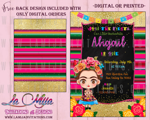 Frida Kahlo Invitations, Frida Kaho Birthday Invitations, Frida Invitations, Invitaciones Frida Kahlo, Frida Kahlo Party Ideas