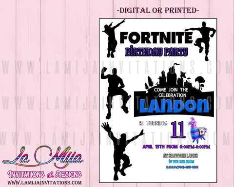 Fortnite Invitations, Customized Item, Fortnite Birthday Invitations, Fortnite Party Invitations - Addi Creations