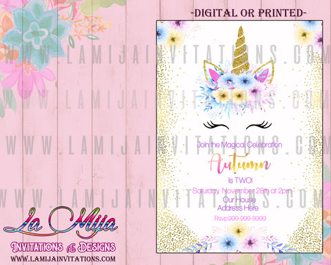 Unicorn Party Invitations, Customized Item, Unicorn Birthday Invitations, Unicorn Invitations, Unicorn First Birthday Invitations, Unicorn Party Invites