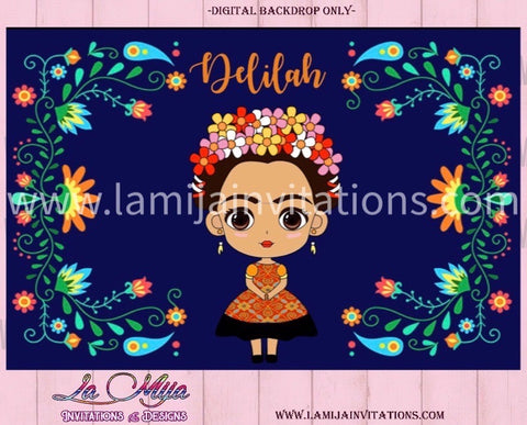 Frida Kahlo Digital Backdrop, Frida Kahlo Backdrop, Frida Backdrop, Frida Kahlo Fondo, Frida Party - Addi Creations