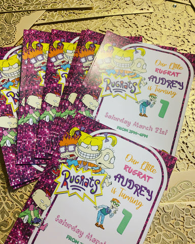 Rugrats Invitations, Rugrats Girl Invitations, Rugrats Birthday Invitations, Rugrats Movie Invites - Addi Creations