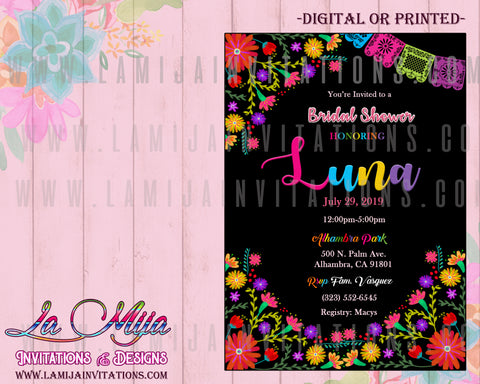 Fiesta Bridal Shower Invitations, Customized Item, Flower Bridal Shower, Serape Invitations, Invitaciones Despedida de Soltera, Mexican Bridal Shower Invites, Mexican Bridal Ideas