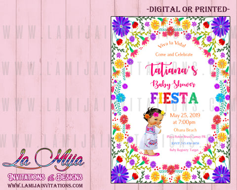 Baby Fiesta Invitations, Customized Item, Mexican Theme Baby Shower Invites, Invitaciones tema Mexicano Baby Shower - Addi Creations