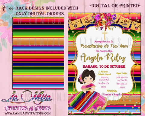 Mexican Theme Birthday Invitations, Customized Item, Tres Anos Invitations, Presentacion Invitations, Charra Tres Anos Invitations, Invitaciones Tres Anos, Invitaciones Charra Tres Anos, Invitaciones Presentacion, Tres Anos Charra Ideas - Addi Creations