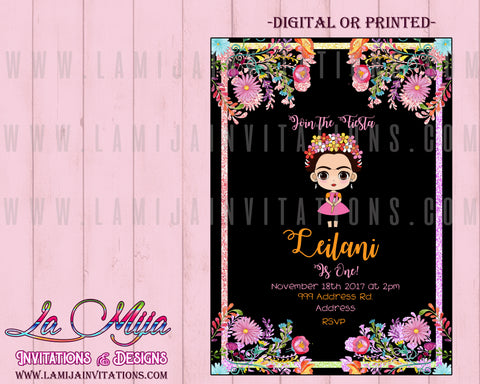 Frida Invitations, Customized Item, Frida Kahlo Invitations, Frida Birthday Invitations, Invitaciones, Frida Kahlo Birthday Party, Frida Kahlo Party Invitations, Frida Kahlo Birthday Theme - Addi Creations