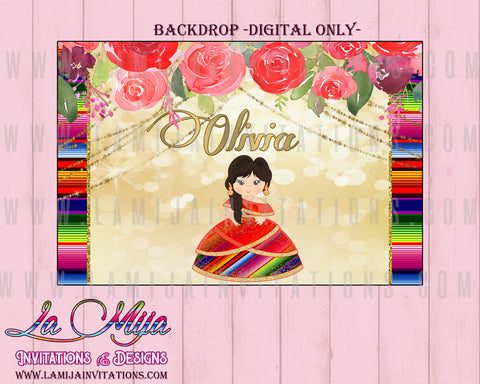 Charra Backdrop,Customized Item, Mexican Theme Backdrop, Tres Anos Charra, Birthday Charra, Baptism Charra, Fiesta Birthday Backdrop, Charra Digital Backdrop - Addi Creations