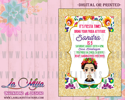 Frida Kahlo Invitations, Customized Item, Frida Kahlo Party Invitations, Frida Kahlo Birthday Invites