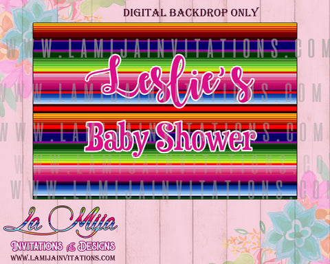 Baby Fiesta Backdrops, Customized Item, Baby Fiesta Theme, Digital Baby Fiesta Backdrops, Mexican Baby Shower, Fiesta Baby Shower, Mexican Baby Shower Backdrops