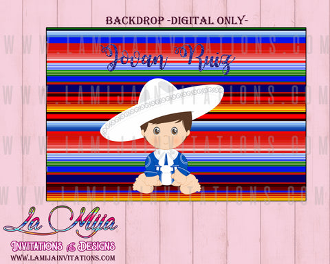 Charro Party,Charro Fiesta, Charro Backdrop, Charro Theme, Charro Baptism - Addi Creations