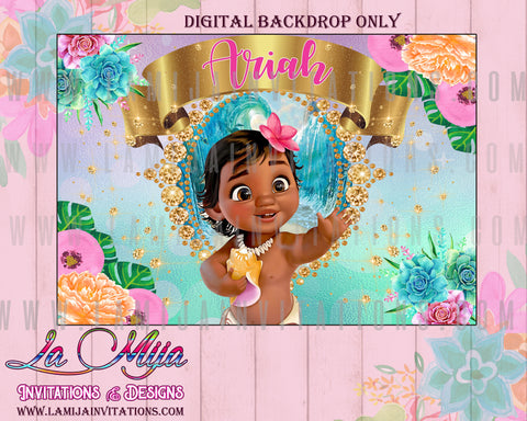 Moana Birthday Party, Moana Backdrop, Baby Moana Backdrop, Baby Moana Party Ideas, Baby Moana Fiesta, Baby Moana Digital Backdrop, 11,Baby Moana Party Ideas, Baby Moana Decor