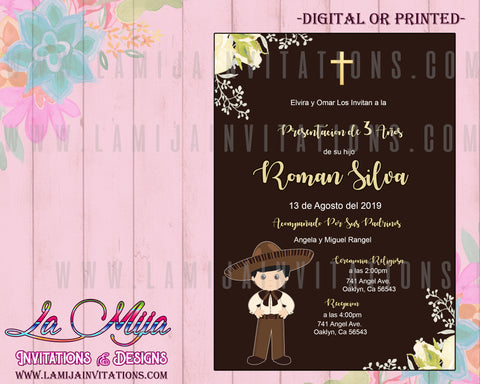 Presentacion de Tres Anos Invitations, Customized Item, Invitaciones Tres Anos - Addi Creations