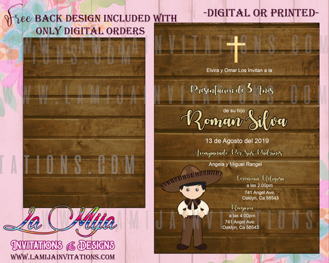 Presentacion de Tres Anos Invitations, Customized Item, Tres Anos Invitation - Addi Creations