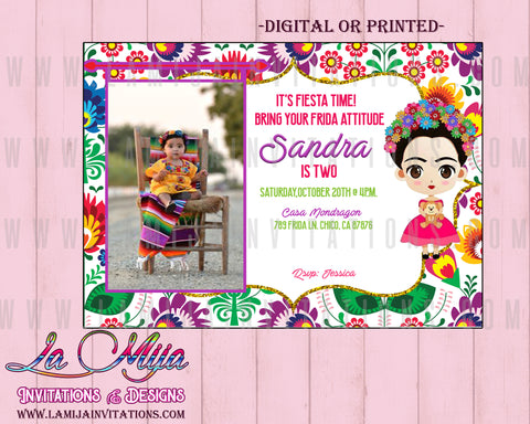 Frida Kahlo Invitations, Customized Item, Frida Invitations, Frida Invitaciones, Frida Birthday - Addi Creations