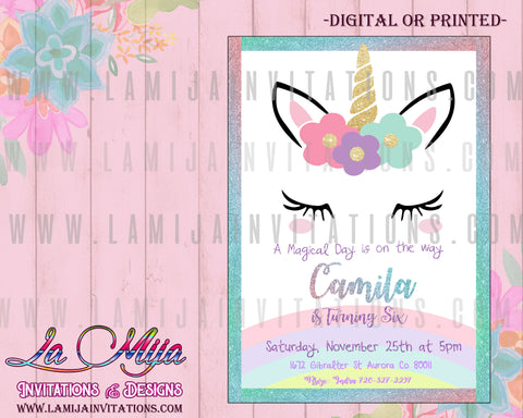 Unicorn Invitations, Unicorn Birthday Invitations, Unicorn Birthday Ideas, Unicornio Fiesta, Unicorn Baby Shower Ideas, Unicorn Baby Shower Invitations, Unicorn First Birthday
