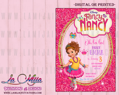 Fancy Nancy Invitations, Customized Item, Fancy Nancy Birthday Invitations, Invitaciones Fancy Nancy - Addi Creations