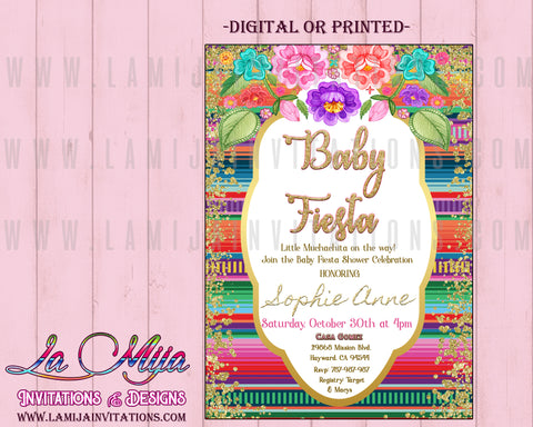 Baby Fiesta Baby Shower Invitations, Customized Item, Mexican Baby Shower Invitations, Serape Invitations, Baby Shower Mexican Theme, Invitaciones Baby Shower Mexicano,00004 - Addi Creations