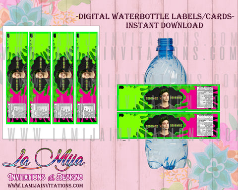 Zombies Disney, Zombies Disney Birthday, Instant Download Zombies Disney, Zombies Disney Water  Bottle Labels, Zombies Disney Digital Download - Addi Creations