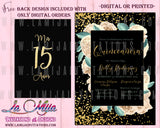 Quinceanera Invitations, Customized Item, Quinceanera Gold Theme Invitations, Invitaciones de Quince Anos - Addi Creations