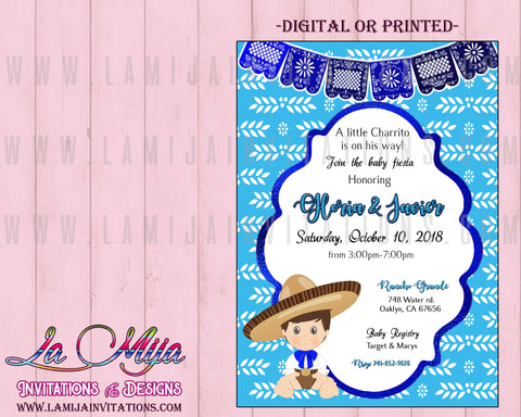 Baby Charro Baby Shower Invitations, Customized Item, Fiesta Baby Shower Invitations, Mexican Baby Shower Invitations, Mexican Theme Shower Invitations, Muchachito Baby Shower, Charro Baby Charro Party, Invitaciones Charro Baby Shower ,00001 - Addi Creations