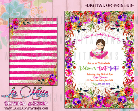 Fiesta Birthday Invitations, Charra Birthday Invitations, Customized Item, Invitaciones Charra Cumple