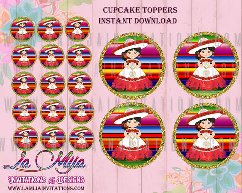 Charra Birthday, Customized Item, Instant Download, Charra Party, Cupcake Toppers