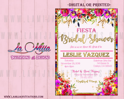 Fiesta Bridal Shower Invitations, Fiesta Bridal Shower Theme, Mexican Bridal Shower Invitations, Mexican Theme Bridal Invites, 8,Mexican Theme Bridal