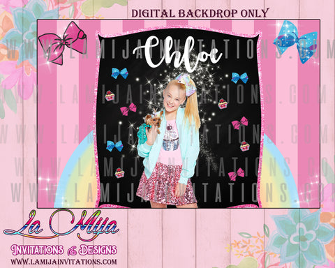 Jojo Siwa Party, Jojo Siwa Decorations, Jojo Siwa, Jojo Siwa DIGITAL Backdrop, Jojo siwa Backdrop, Jojo Siwa Party