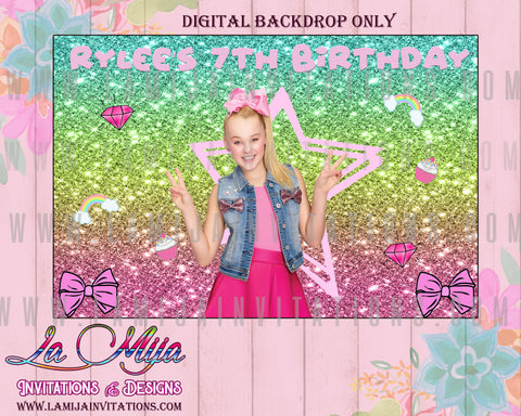 Jojo Siwa, Jojo Siwa Backdrop, Jojo Siwa Party, Jojo Siwa Birthday, Jojo Siwa Decorations, Digital Only